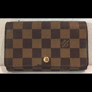 Authentic Louis Vuitton Damier Ebene Bifold Wallet